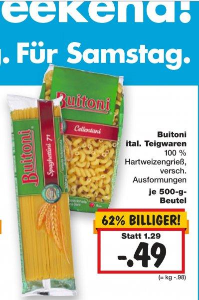 [Kaufland bundesweit] Buitoni Pasta 29. bis 31.01. für 0,49 Euro