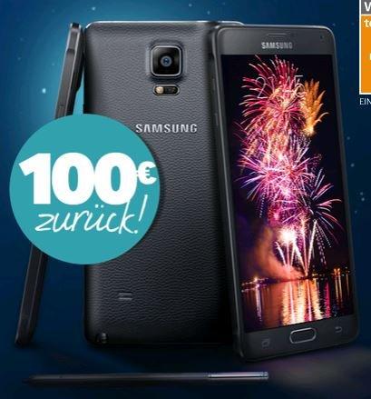 Galaxy Note 4 100€ Rückzahlung von Samsung bis 31.01.2015
