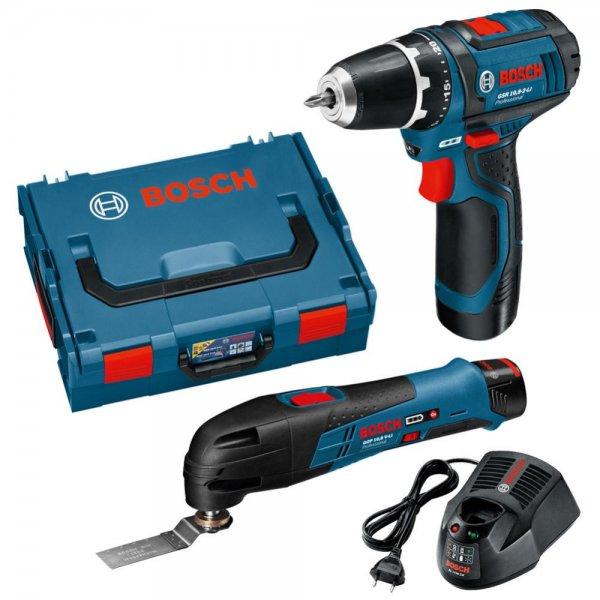 Interessant Bosch blau 10.8V GSR (Akkuschrauber) und GOP (Multi-Tool) Set mit  CN97