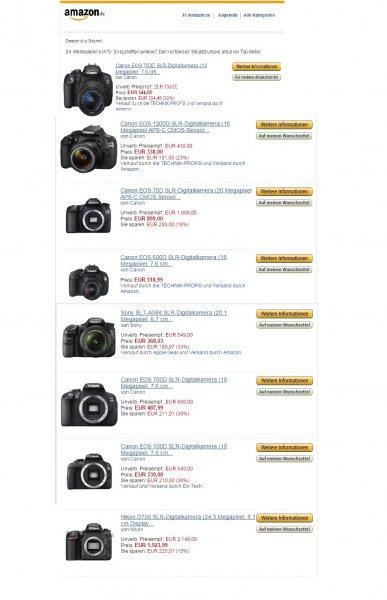 Amazon Bis -47% Spiegelreflexkamera versandkostenfrei