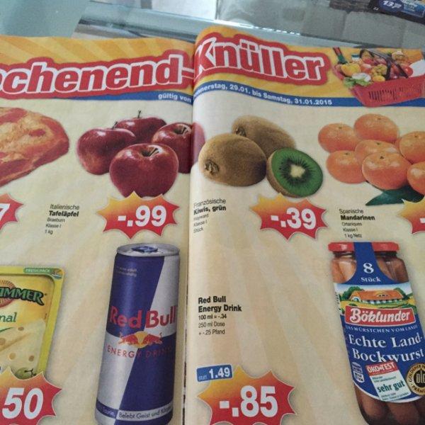 Red Bull im Kaufpark für 0,85€