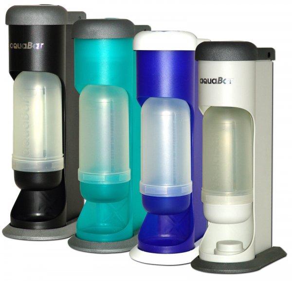 """Wassersprudler mit Glasflaschen, """"aquabar"""", 50 EUR  >>> 16 EUR"""