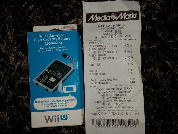 Wii U High-Capacity Battery 2550mAH