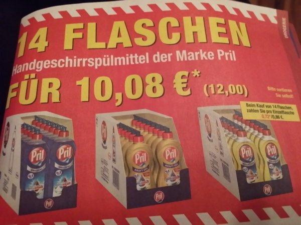 [Metro Bundesweit Offline] 14 Flaschen Pril Geschirrspülmittel Verschiedene Sorten 12 Euro, 0,86 Euro Pro Flasche