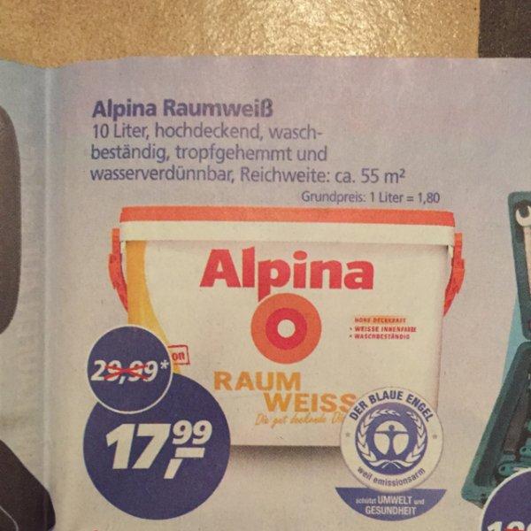 Alpina Raumfarbe 10L bei real