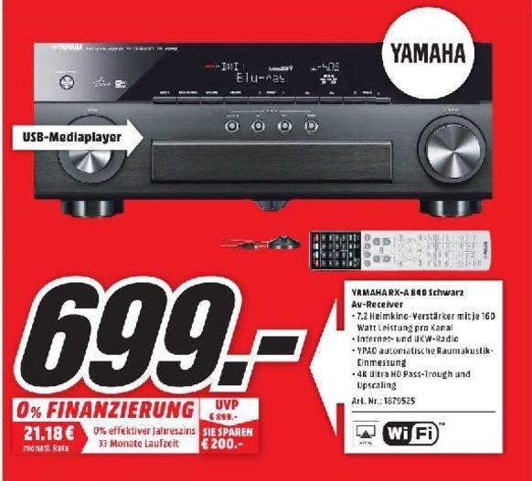 [Lokal] Yamaha RX-A840 - 7.2-Kanal Netzwerk AV-Receiver für 699.-@Mediamarkt Porta Westfalica