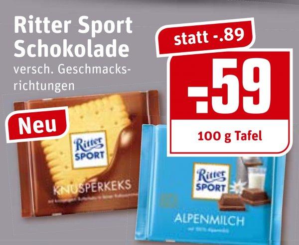 [Lokal Rewe Dortmund?] Ritter Sport 100g 0,59€