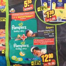 Netto (Lokal) Samstag 31.01. Pampers Baby Dry 17 Cent. Bzw 12cent mit Coupon