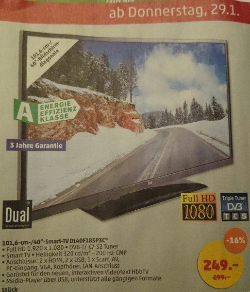 Penny (lokal) TV 40 Zoll Full HD von Dual (ab 29.1)