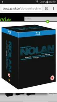 The Christopher Nolan Director's Collection Blu-ray