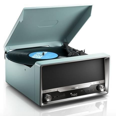 Philips OTT2000B Retro Soundsystem mit Bluetooth (LP-Wiedergabe, USB Rip, USB, UKW, CD-MP3) schwarz für 87€ @Brands4friends