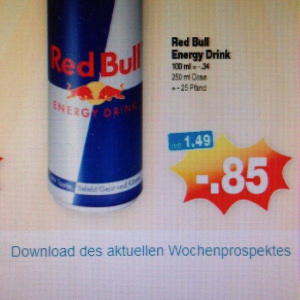 Red Bull 250 ml 0,85€