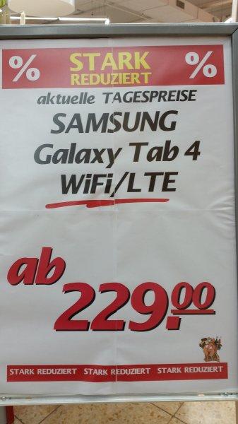 """[Marktkauf VOERDE] Samsung Galaxy Tab 4 10,1"""" 16GB mit Wifi 229,-€ / mit LTE 279,-€"""