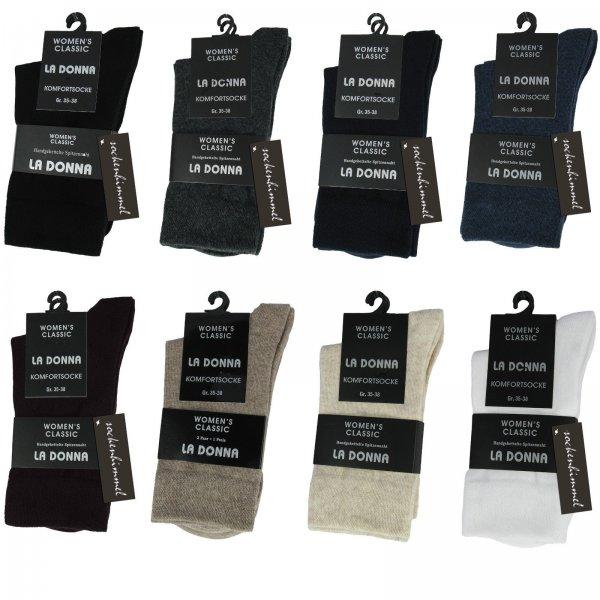 6 Paar Damen Socken Baumwolle -Diabetiker-ohne Gummibund ohne Naht ÖkoTex-Garn