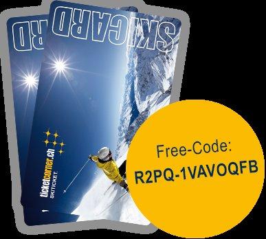 2 Skicards für Ticketing in fast allen schweizer Skigebieten kostenlos (statt 10€)