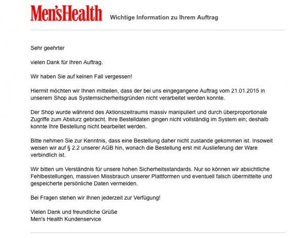 Men's Health (für 27 € Deal von 16.01-18.01)