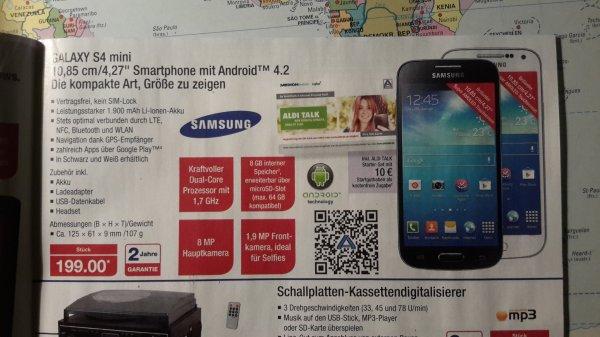 Samsung Galaxy S4 Mini nur 199€