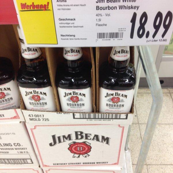 Jim Beam White Bourbon Whiskey 1,5l(Lokal???)