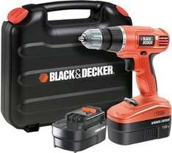 Black&Decker EPC18CABK Akkuschrauber Set 18V mit 2 Akkus Wochendeal 82,89€