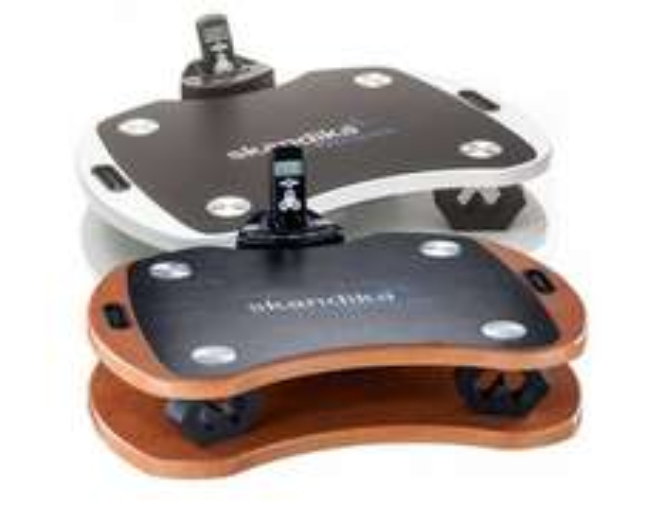 SKANDIKA Vibration Plate Home 300, Kraftvolle 3D Vibrationen, 3 vorprogrammierte, 1 manuelles Programm, Braun @meinpaket