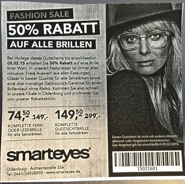 Oldenburg: Komplette Brille für 74,50 € / Gleitsichtbrille für 149,50 €