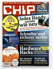 CHIP Jahresabo mit 3 DVDs für effektiv 9,92€