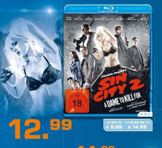 """Sin City 2 """"A Dame to Kill for"""" als DVD,Blu-Ray und Blu-Ray 3D für 9,99€ /12,99€/14,99€ bei Saturn"""