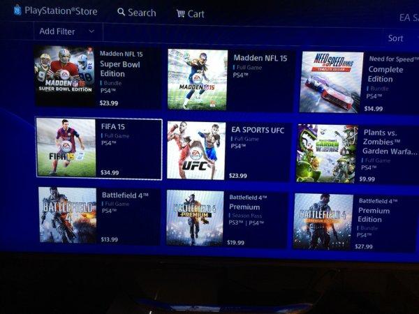 EA PSN USA Sale PS4