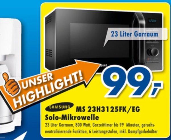 [Euronics Lüdinghausen] Samsung MS23H3125FK/EG Mikrowelle 99€