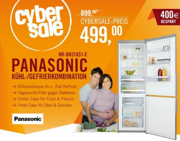 Cybersale: Kühl-Gefrierkombi Panasonic NR-BN31AS1-E für 499€ + VSK