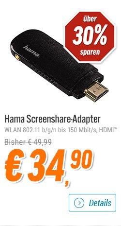 """[notebooksbilliger.de] Angebote der Woche: Miracast-Stick """"Hama Wireless Screenshare-Adapter"""" 34,90€"""