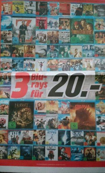 Media Markt: 3 Blu-rays für 20 € *Update*