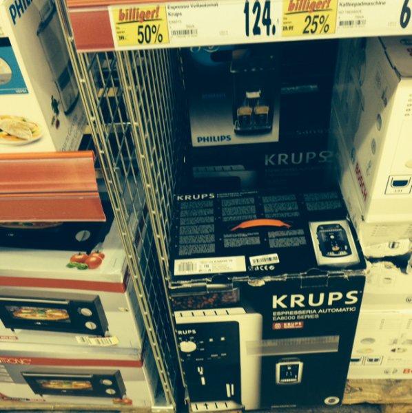 Krups Kaffeevollautomat EA 8000 für 124€ @ Kaufland