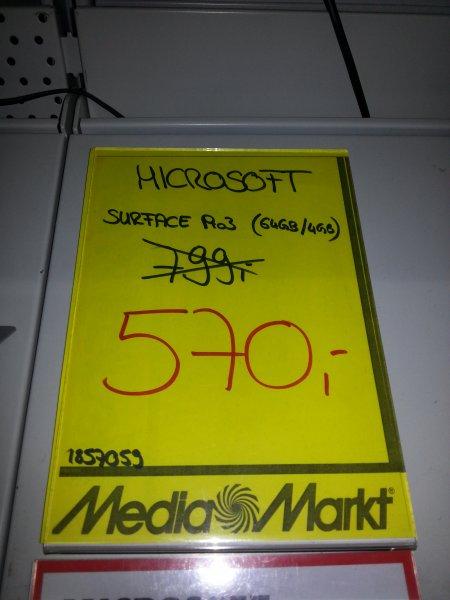[Lokal] Karlsruhe MediaMark, Microsoft Surface Pro 3 - i3, 64GB, 4GB RAM (Versand möglich!)