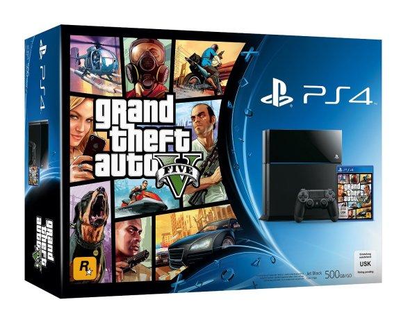 Playstation 4 mit GTA 5 für 398,99 bei Media Markt