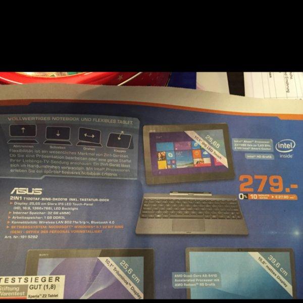 Saturn asus Transformer t1001af-Bing-dk001b mit Tastatur
