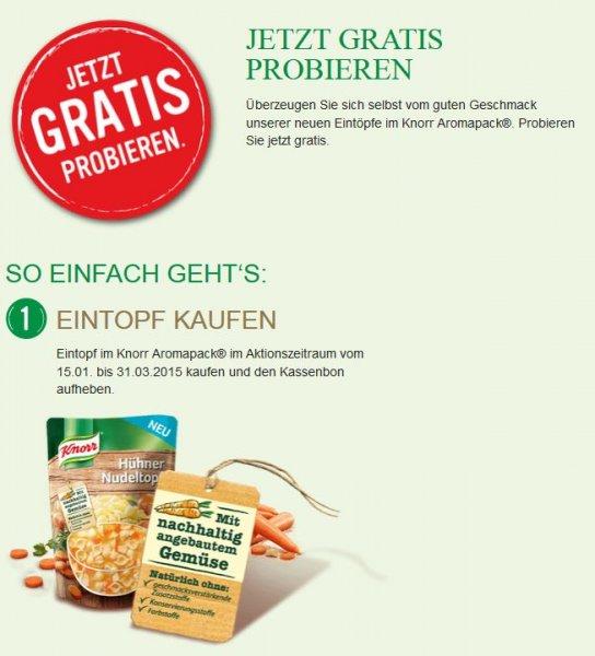 Knorr Eintöpfe aus dem Aromapack kostenlos