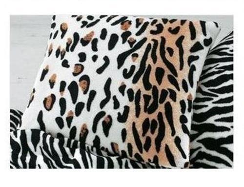 Safari Microfaser Fell Polster 2er Pack Kissenbezug 40x40cm Leoparden Muster