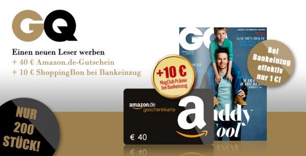 Gentlemen's Quarterly - GQ 12 Ausgaben für effektive 1€
