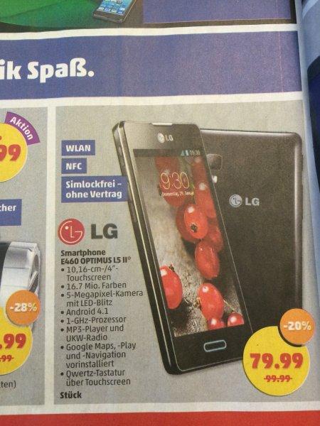 LG E460 OPTIMUS L5 II bei Penny 79,99€