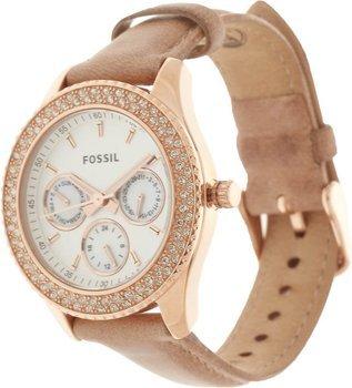 Fossil Damen-Armbanduhr Analog Lederarmband  bei Amazon 69,50 €, inkl.VSK.