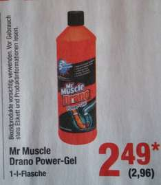 Metro - Mr Muscle Drano Power Gel 1,96€