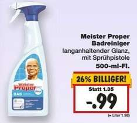 [KAUFLAND] KW06: Meister Proper Bad-Reiniger Pumpspray 500ml für 0,49€ (Angebot+Coupon nicht in BY+BW)