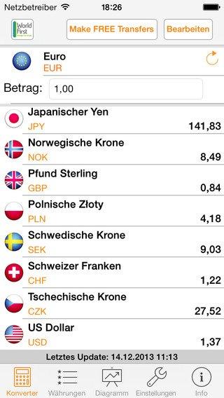 [iOS] My Währung PRO - Währungrechner Gratis