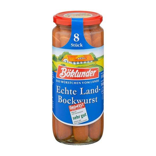 Böklunder Land-Bockwurst 8 Stück / 360g Glas (lokal Dortmund (?))