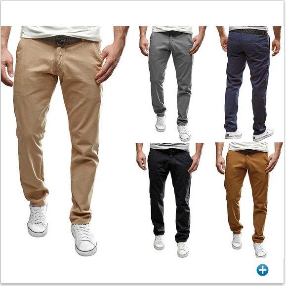 [eBay WOW] MERISH Chinohose Slim Stil Chino Hose Schwarz/Braun/Navy Jeans Herren Neu 49