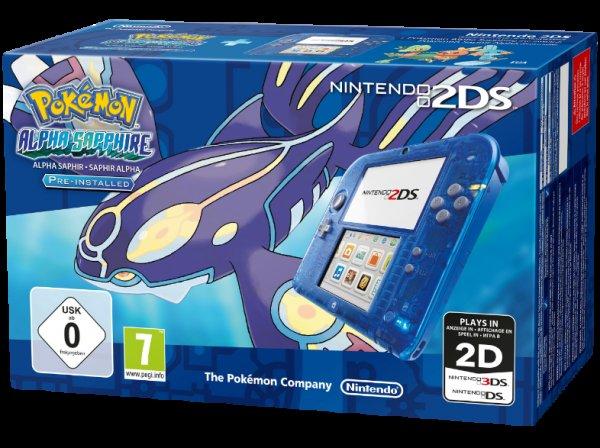 [Ebay] wieder verfügbar - Nintendo 2DS mit Pokemon Alpha Saphir - 111€