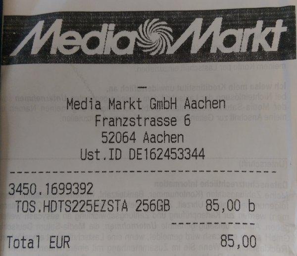[Lokal] Aachen Media Markt 256GB Toshiba SSD