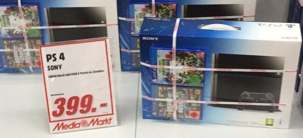 Lokal - MM Mainz - PS 4 mit GTA 5 und Pflanzen gg. Zombies - 399€