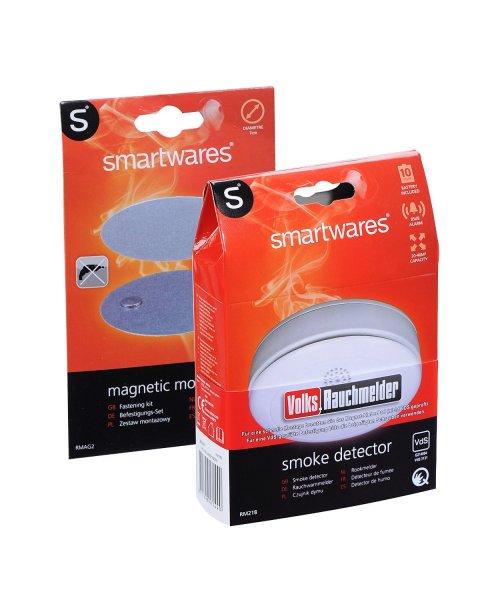 Globus WND Smartwares Volks-Rauchmelder RM218 - 10 Jahres Batterie mit Magnethalterung für 14,99